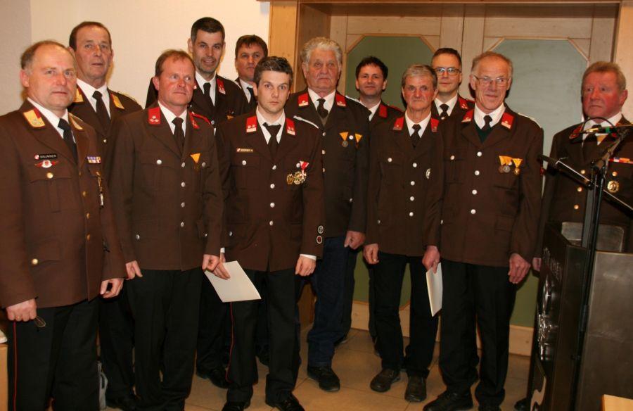 Führung der Freiwilligen Feuerwehr im Umbau