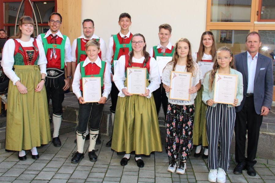 Bundesmusikkapelle ehrte tüchtige Musikanten